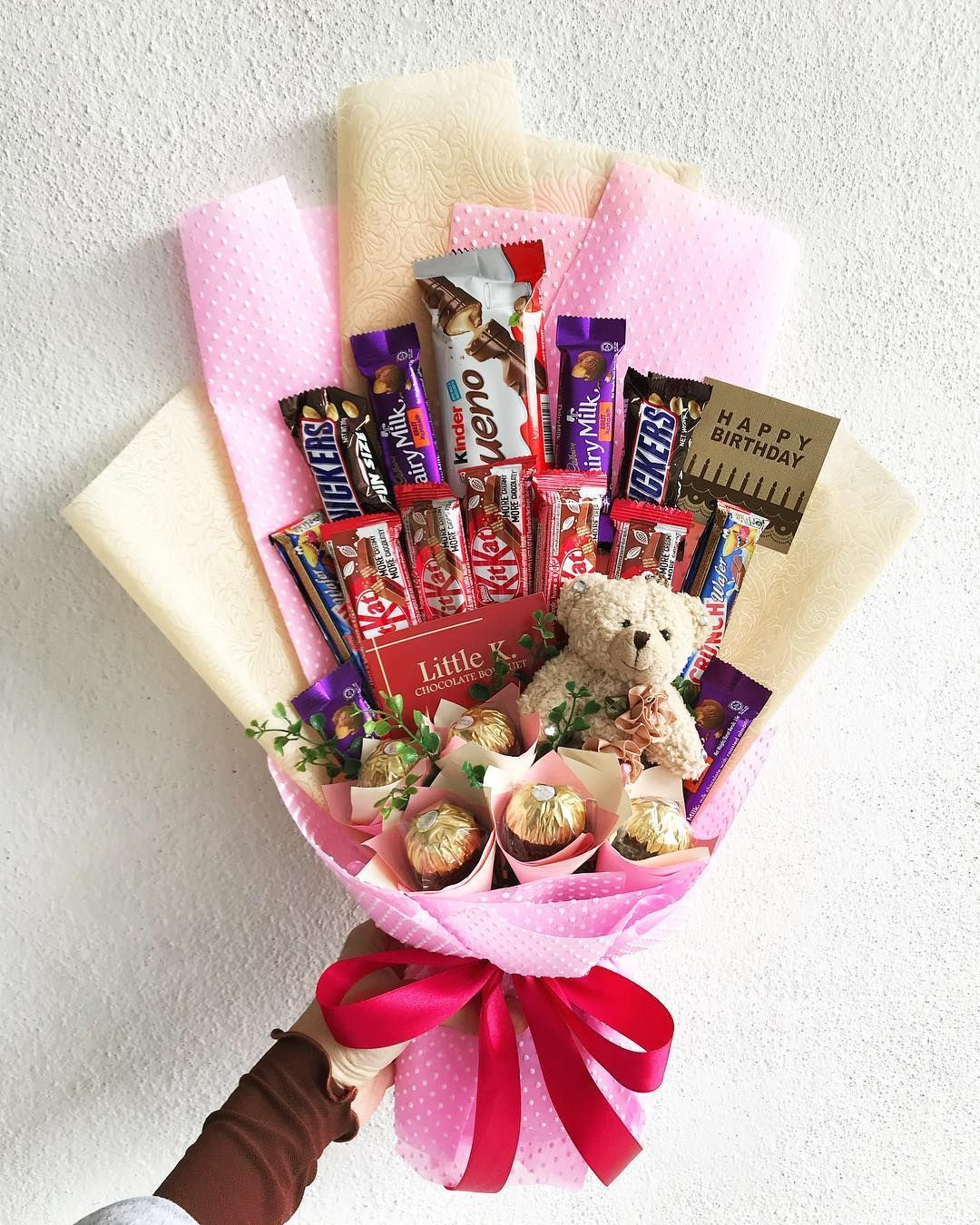 Chocolate Bouquet Ikut Budget Self Pickup Sungai Ara And Delivery Available Penang Island Only Bouquet P Chocolate Bouquet Birthday Balloons Sweet Bouquet