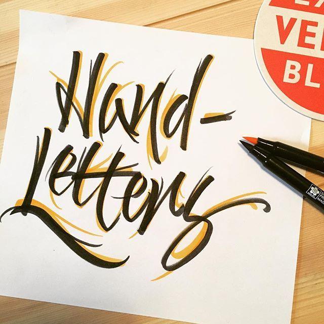 Handletters! #handmade #handlettering #handletters #hand #letters #calligraphy #kalligrafie #denbosch #brushcalligraphy #brushpen #sakura #sakurakoi #koi #brushtype #brush #blackandyellow #calligraphic #calligritype #calligraphyph #vedett
