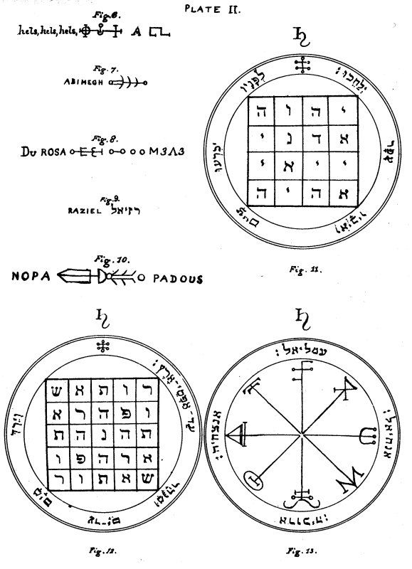 The Key of Solomon: Plates: Plate II Alchemy, Witchcraft, Magick