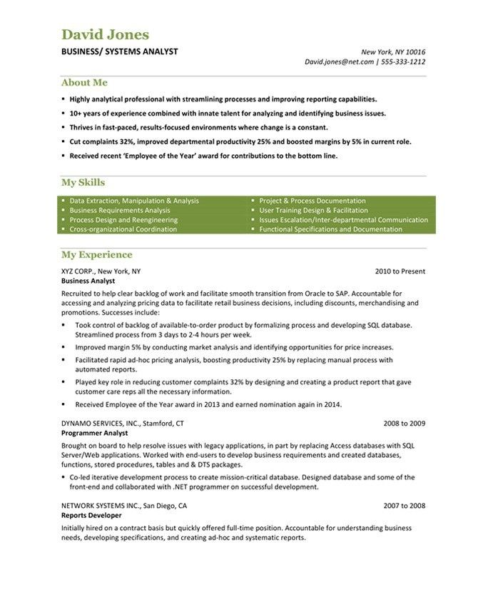 Do you think getting the business analyst job is easy? Getting - business systems specialist sample resume