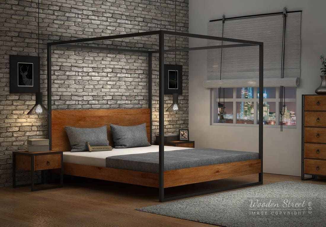 Buy Samboy Loft Poster Bed Without Storage (Queen Size
