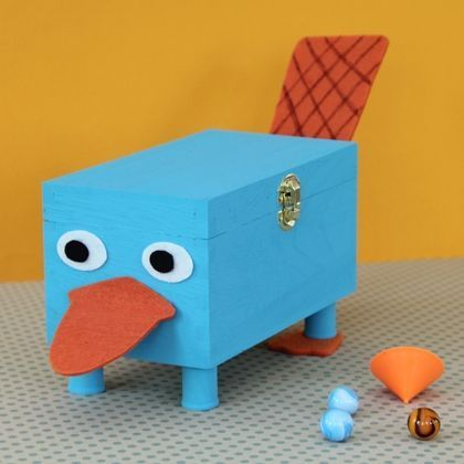 Phineas and Ferb Inspired Treasure Box