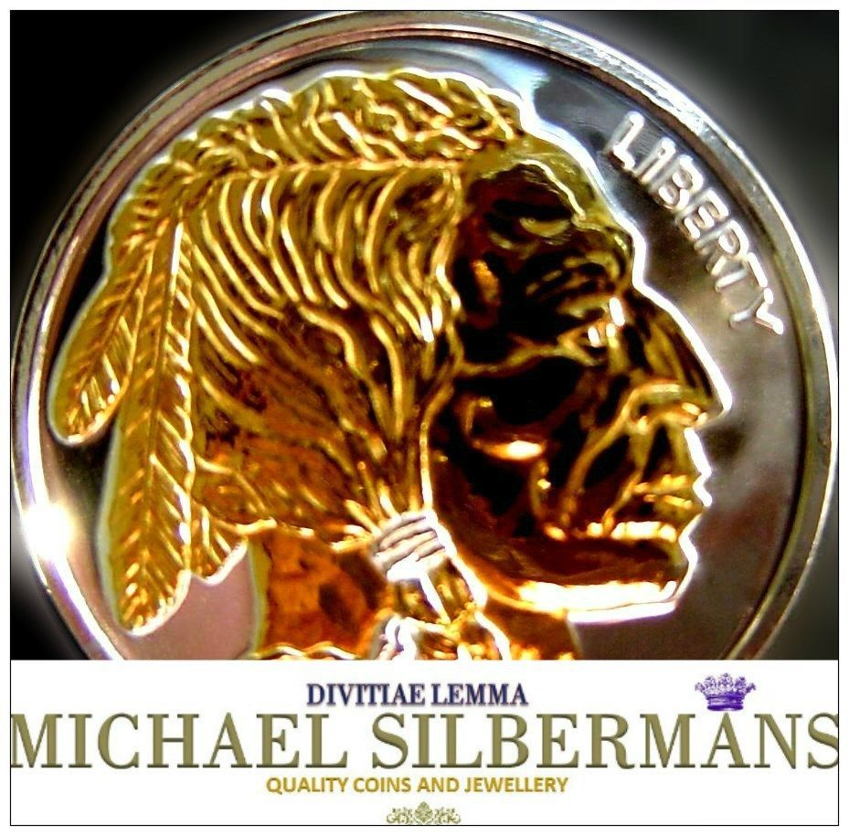 1 Oz Silver Buffalo Indian Head Proof Like Gilded Black Feather Silver Bullion Coins Silver Bullion Bullion Coins