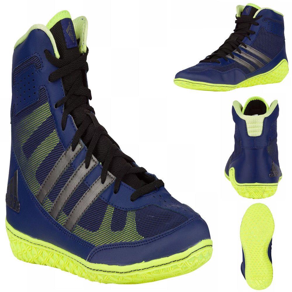 edc9044ffebd99 ... free shipping adidas mat wizard 3 wrestling shoes mens david taylor  navy silver lime green adidas ...