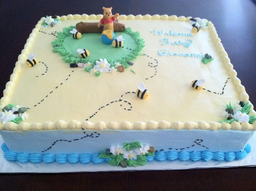 Winnie The Pooh Baby Shower Cake Suzanne S Shower Ideas
