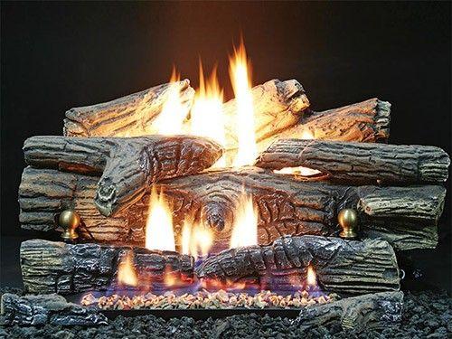 Buck Stove Ember Vision Pine Vent Free Gas Log Set Buck Stove Gas Log Sets Wood Burning Stove