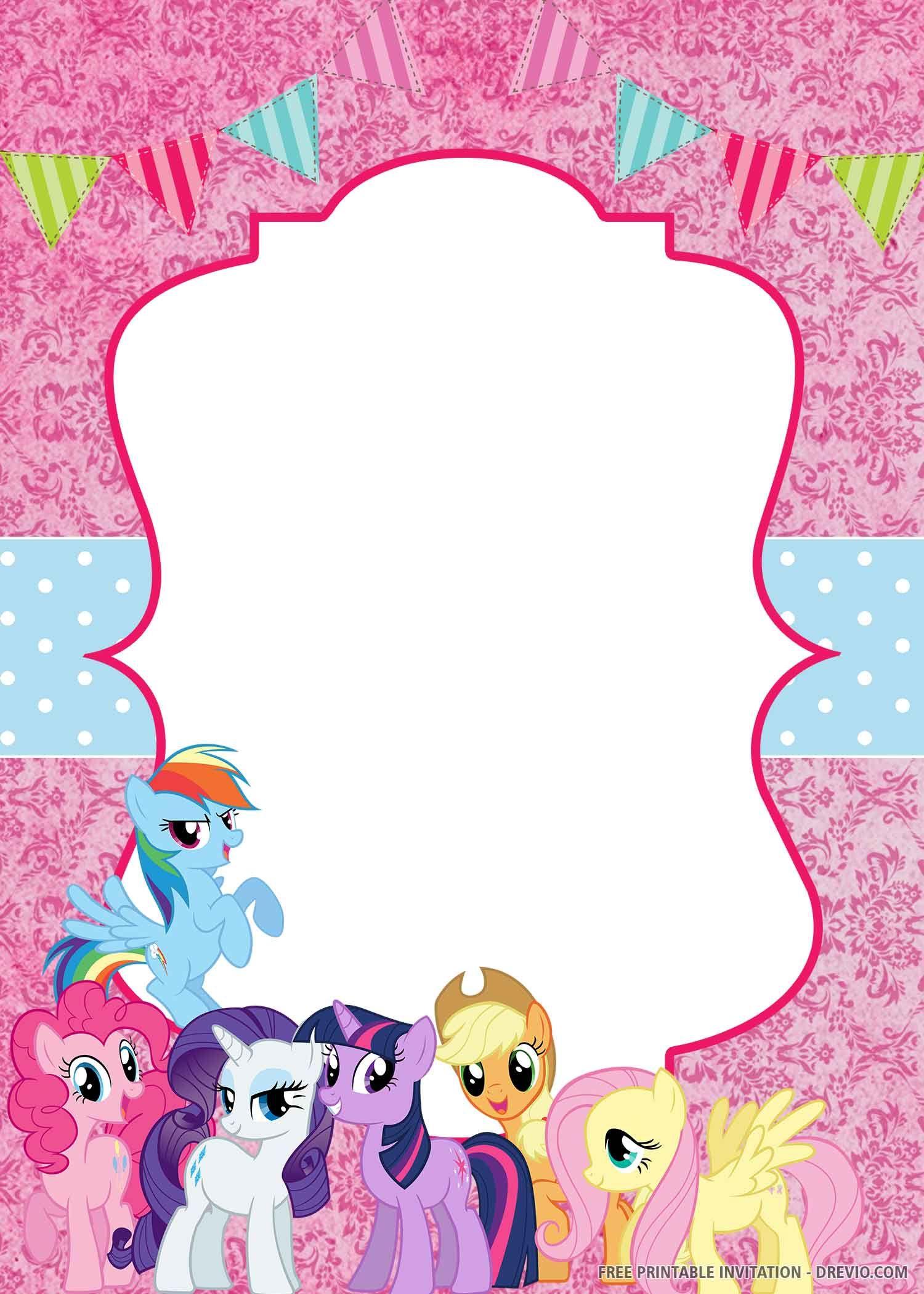 Free Printable My Little Pony Invitation Templates My Little Pony Invitations My Little Pony Birthday Pony Birthday