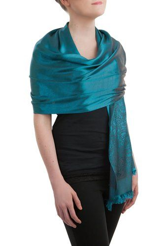 Opulent Luxury Pashmina Scarf Shawl is woven from the finest 100% Silk which gives you the right amount of coverage during the colder seasons.