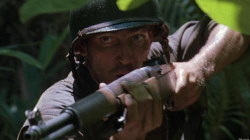 """Jim Caviezel in """"The Thin Red Line"""""""