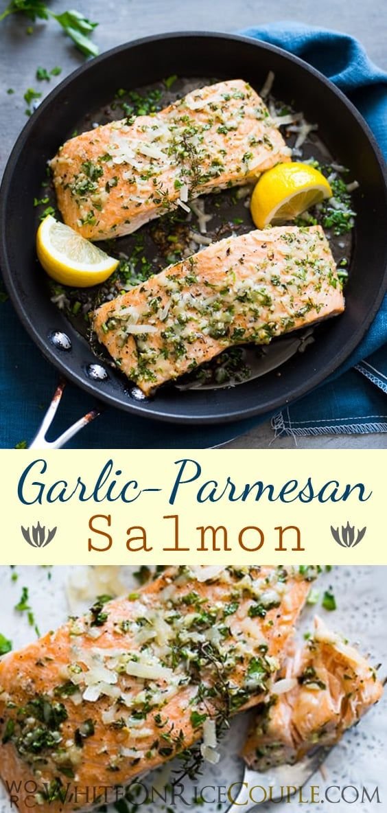 Photo of Garlic Parmesan Salmon Recipe that's Healthy, Quick, Easy