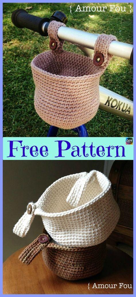 15 Useful Crochet Hanging Basket - Free Patterns