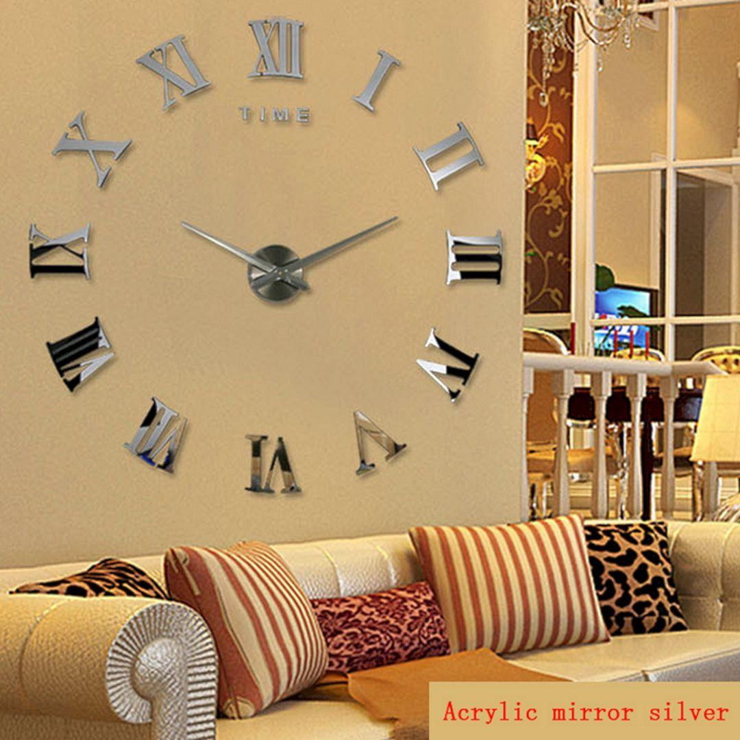 35+ Beautiful Living Room Wall Decor with Clocks Ideas | Clock ideas ...