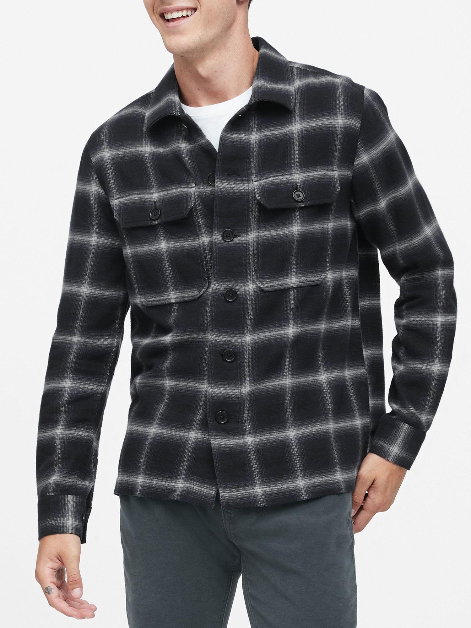 SlimFit Shirt Jacket Shirt jacket, Mens tops, Jackets