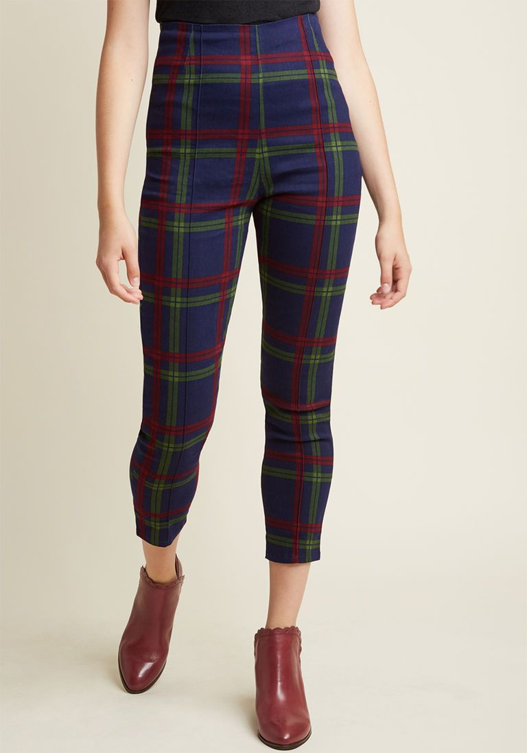 9ef3fe5b413 Collectif So Glad It's Plaid High-Waisted Pants in XL - Skinny Pant by  Collectif from ModCloth