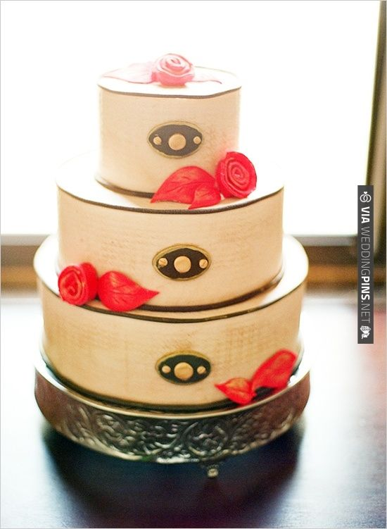 white, red and black wedding cake   CHECK OUT MORE IDEAS AT ...