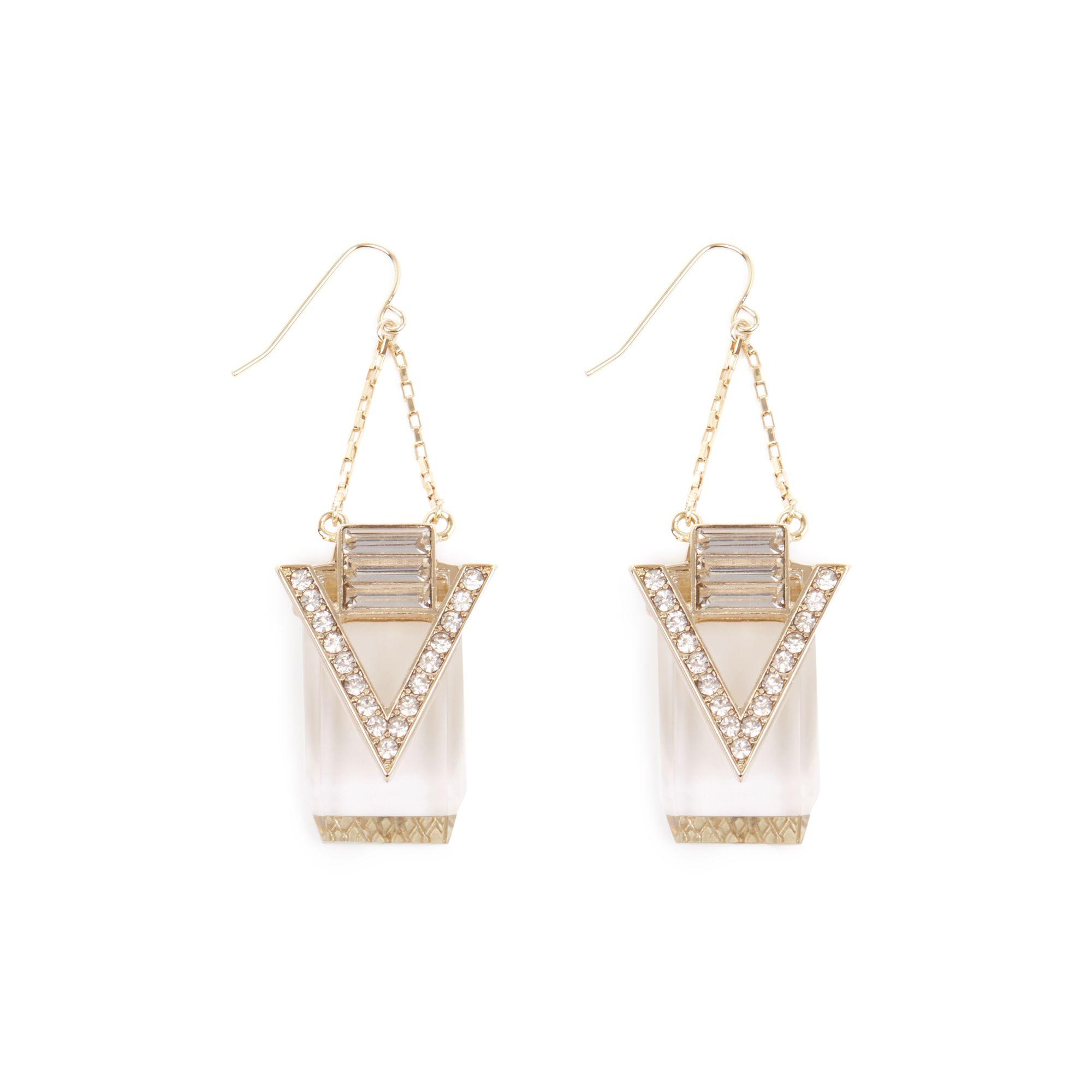 Warehouse, Diamante Swing Earrings
