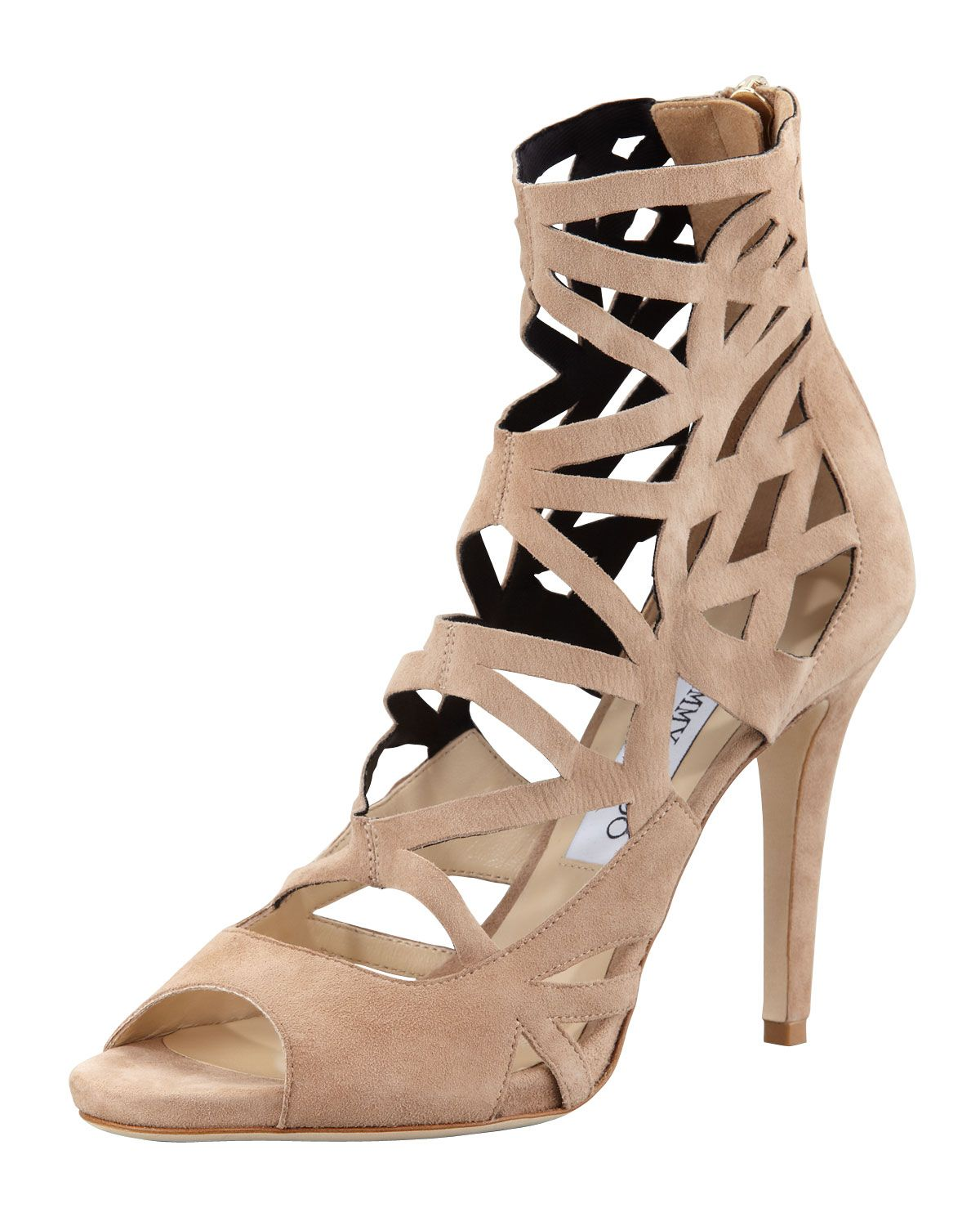 Jimmy Choo Suede Caged Sandals buy cheap with paypal sale collections cheap sale under $60 buy cheap get to buy sale cheap online aVykzW06