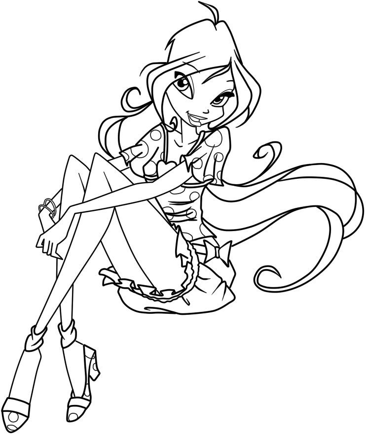winx club coloring pages and book uniquecoloringpages
