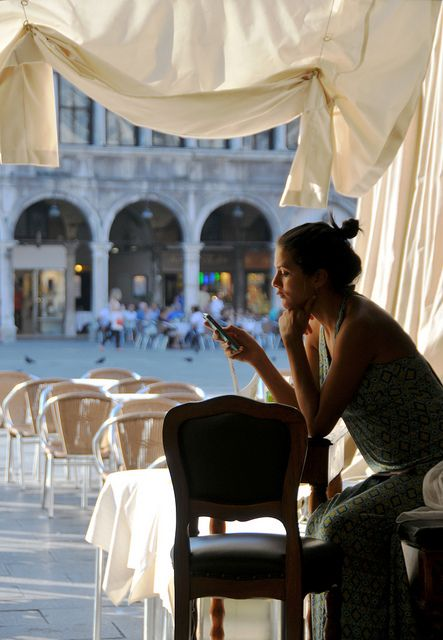 Venice, Outside the Caffè Florian...