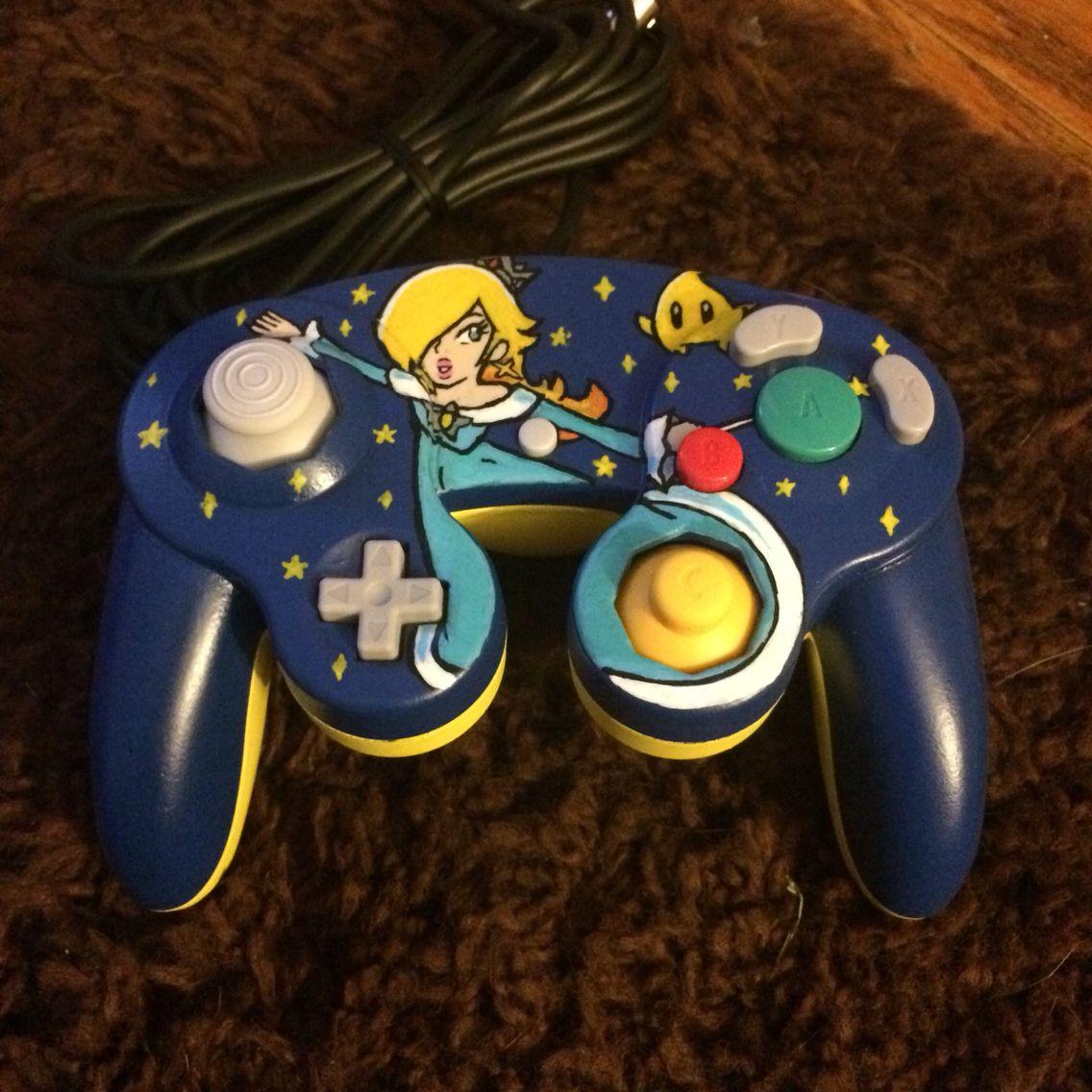 Customcontroller Nintendo Gamecube Rosalina Luma Mariogalaxy Smashbros Wiiu Gamecube Controller Video Game Controller Gaming Products