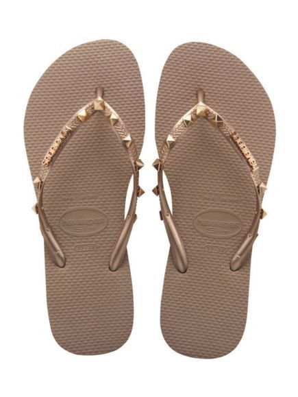 76427e3b2 Havaianas - Women s Slim Hardware Flip Flops - Rose Gold