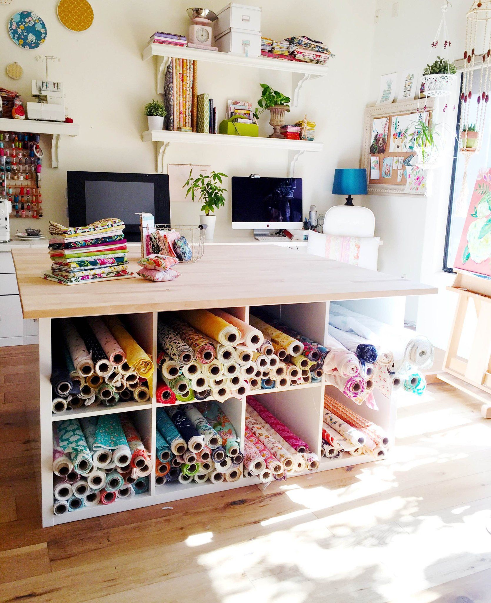 Ikea Studio Space Fabric Storage Hack