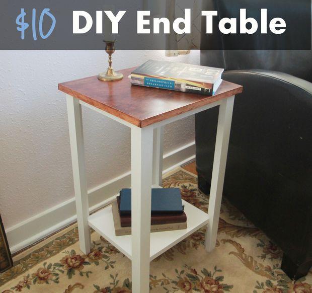 Simple Diy End Table For 10 Diy End Tables Diy Side Table Diy