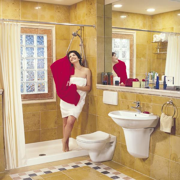 How To Remodel A Small Bathroom Elegant Glass Block Installation - Bathroom remodel shows