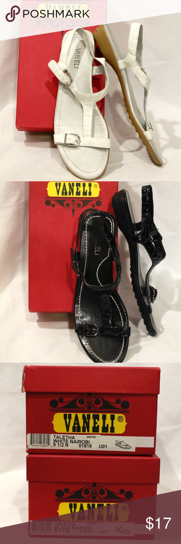 7abcd3dfb68 VANELi Sandals with Box Nordstrom Brand Sandals Both pairs gently used! Vaneli  Shoes Sandals