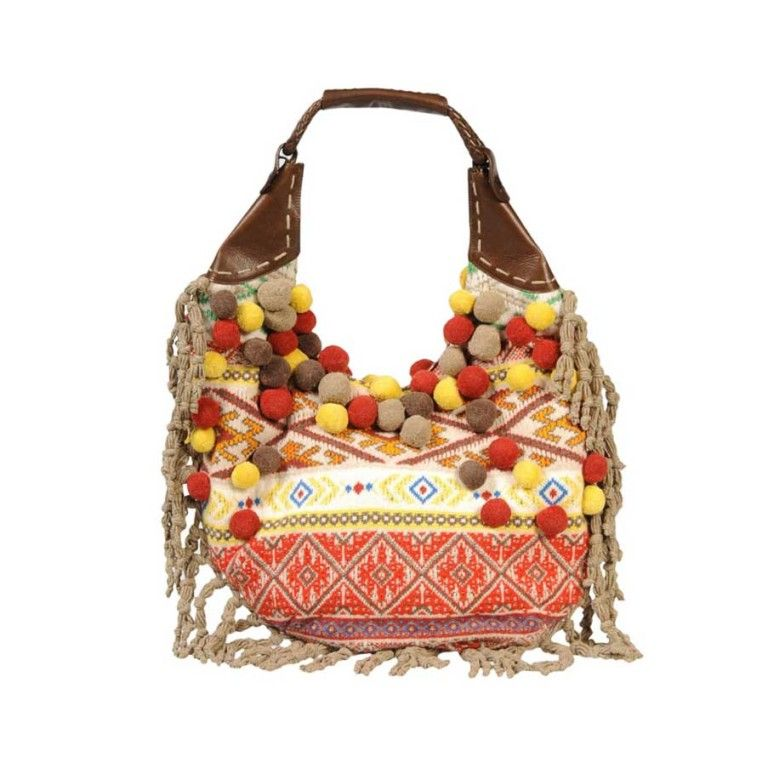 2005 Alexander Mcqueen Large Pompom runway bag | From a collection of rare vintage handbags and purses at http://www.1stdibs.com/fashion/accessories/handbags-purses/
