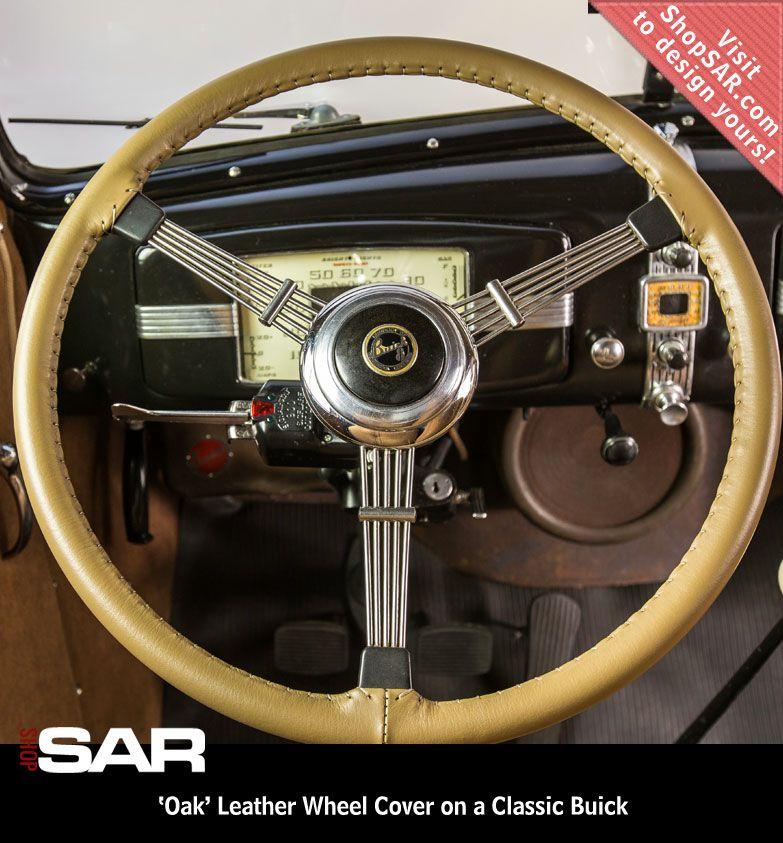 Universal Genuine Leather Steering Wheel Cover Hand Sewing Breathable Design 15 Inch DIY Cowhide Car Steering Wrap Black