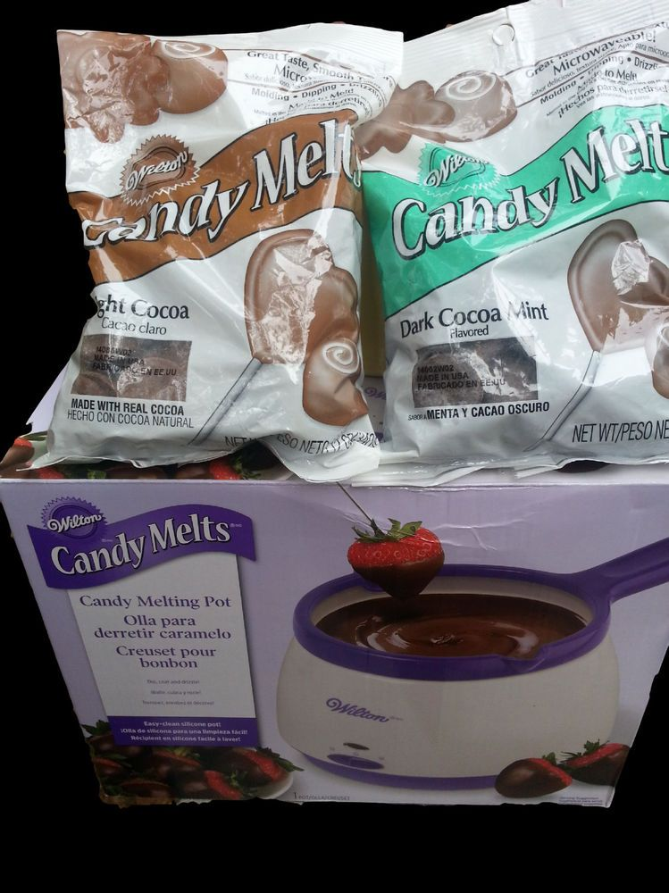 New Wilton Candy Melting Pot White Plus Wilton Candy Melts Lot