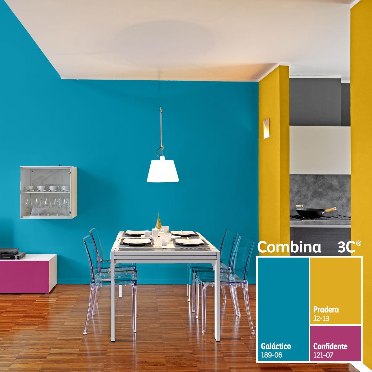 Combinaciones audaces para espacios creativos colorlife - Combinaciones de colores para paredes ...