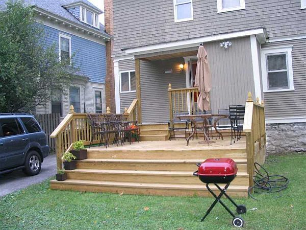 How To Add Stairs To Your Deck Building A Deck Deck Design Back Deck Designs