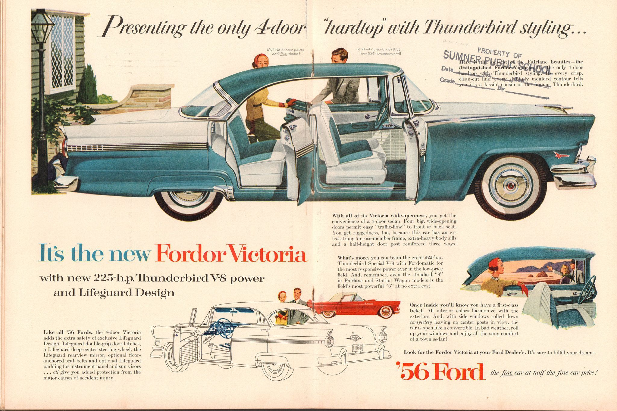 1956 Ford Car Door Latch Google Search Ford Classic Cars Automobile Advertising Ford