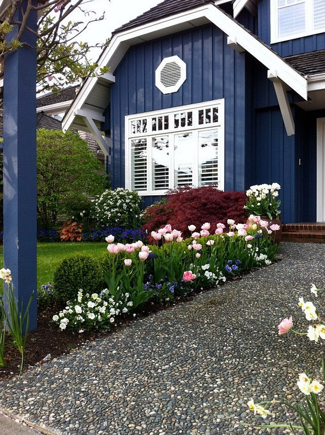 house navy blue home exterior paint color