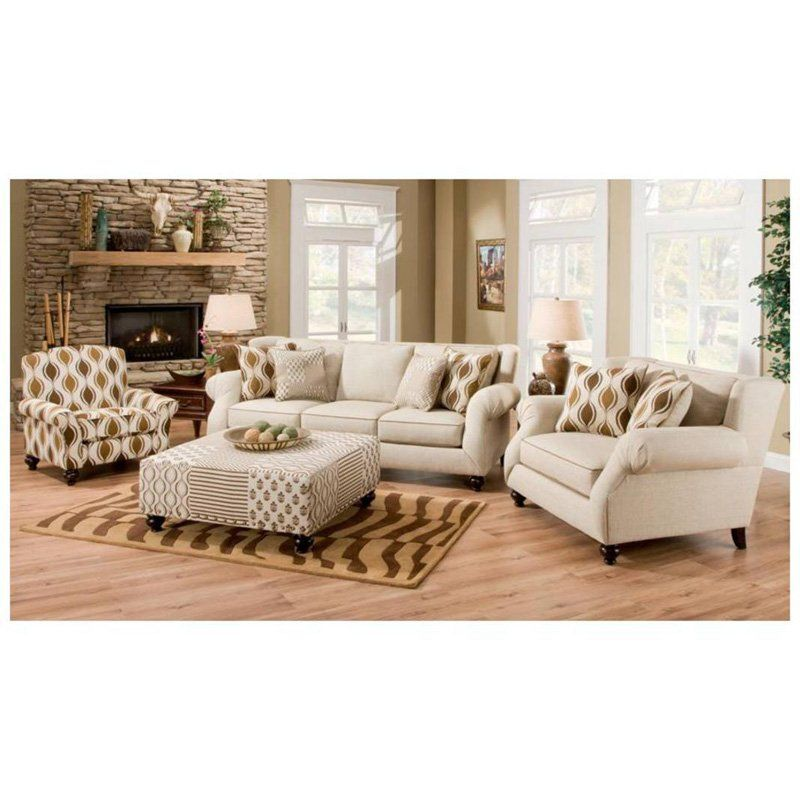 Chelsea Home Hazel Sofa And Chairs Set Simply Linen 3439 99