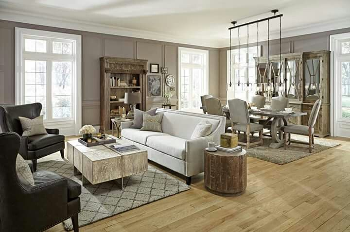 Love love love everything in this picture from all the furniture, light fixtures, and hardwood floor choice!