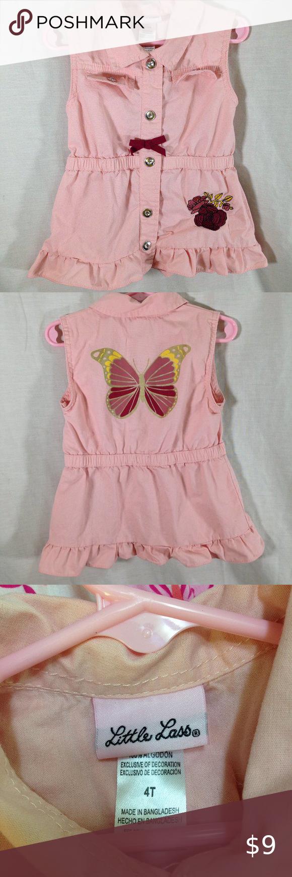 Little Lass Cotton Sleeveless Dress Pink 4t Pink Dress Little Lass Dresses [ 1740 x 580 Pixel ]
