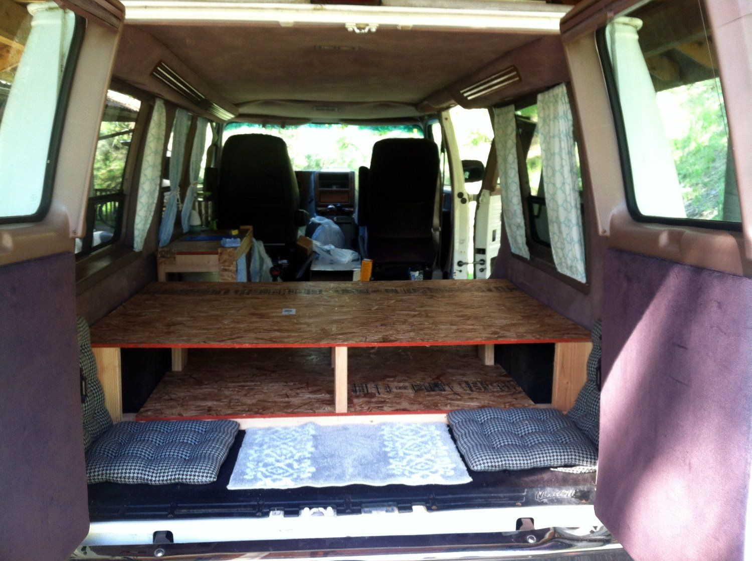 Diy Campervan Bed Frame With Built In Storage Two Wandering