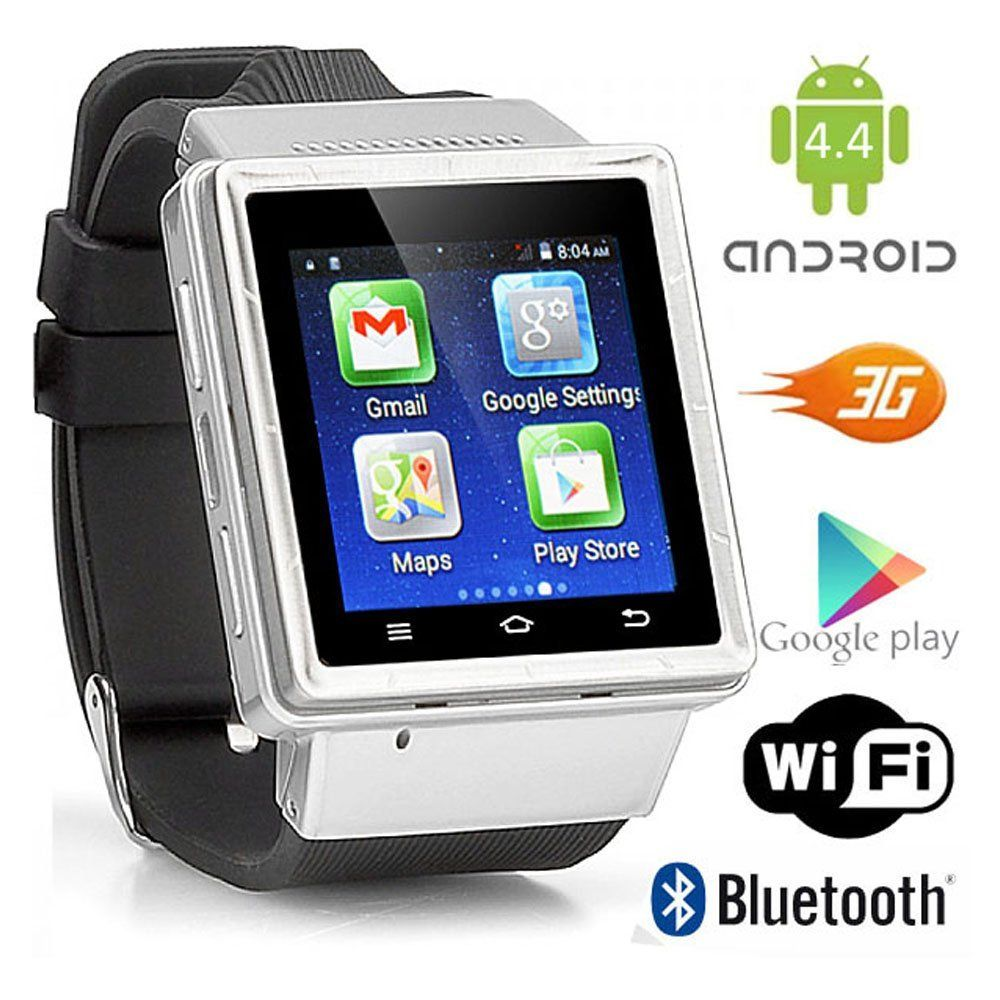Indigi Android 4 4 Smart Watch Phone Mini Tablet PC w/ WiFi