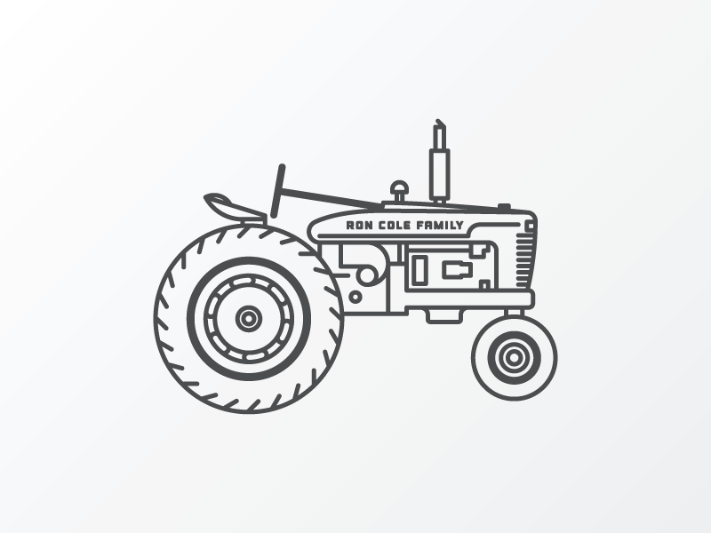 Line Drawing Tractor : Tractor old tattoo and tatting