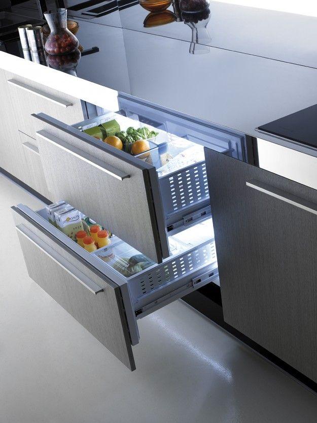 Frigidaire à casseroliers d'extraction (Mobalco) | Frigo tiroir, Amenagement cuisine, Cuisine ...