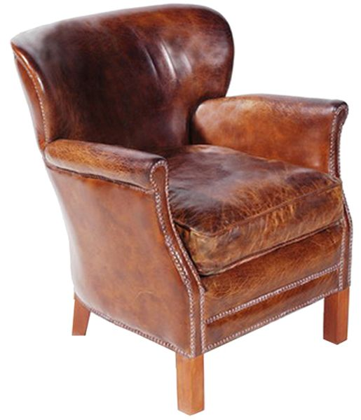 Charmant Oxford Leather Armchair, After Noah