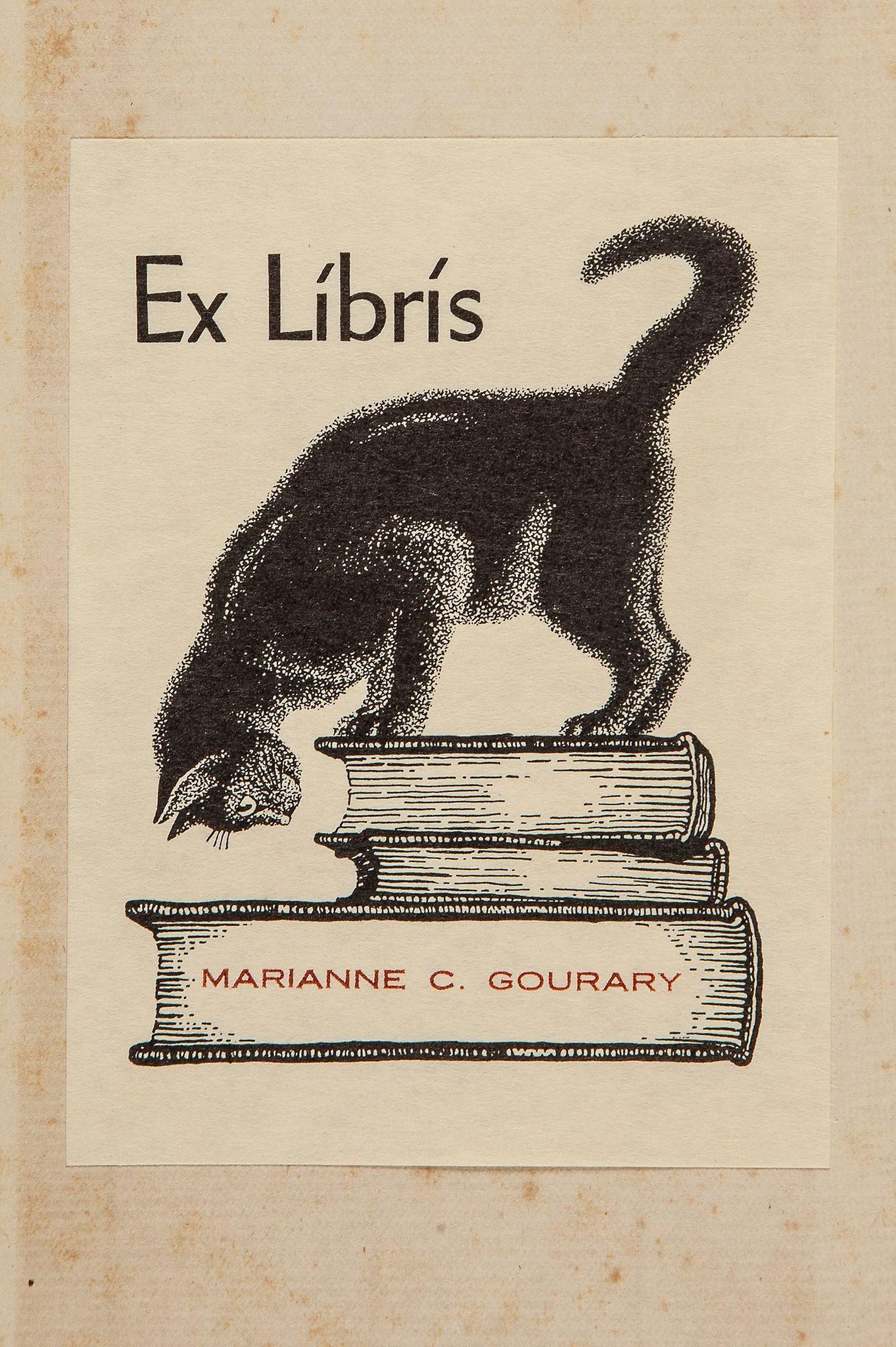 * Ex Libris de Marianne C.Gourary (collectionneuse d'ouvrages sur les chats)