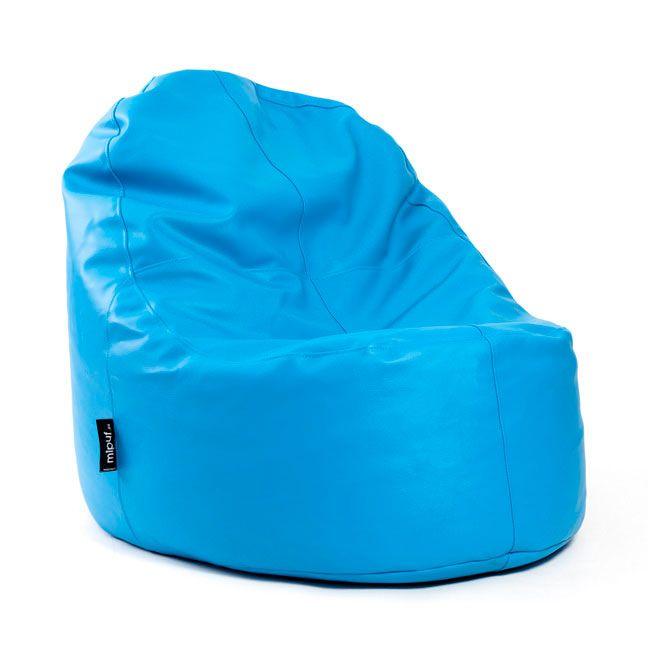 Puf Lounge Polipiel Azul Turquesa