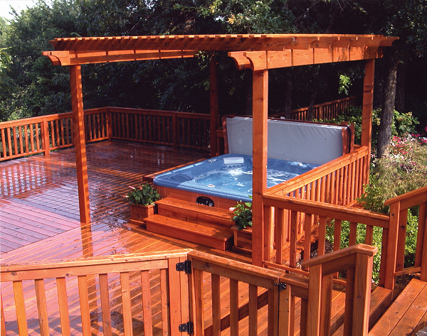 Patio Hot Tub Ideas Backyard Hardscape Hot Tub Designs Hot
