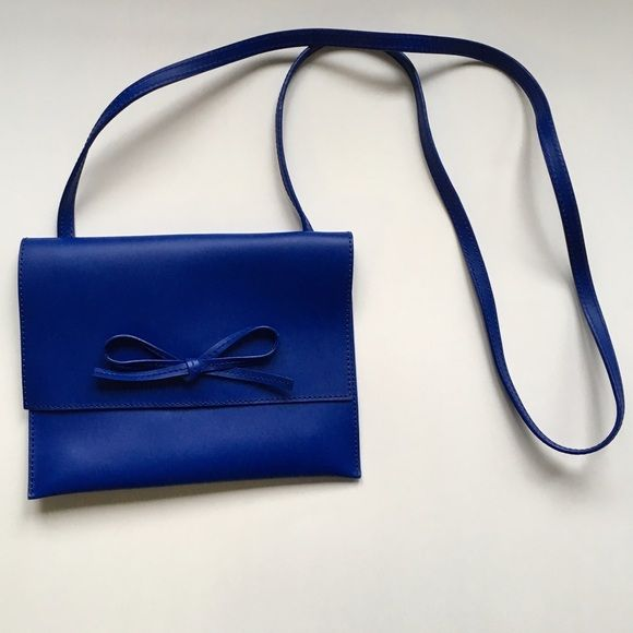 GAP Blue Leather Crossbody Bag GAP leather crossbody purse in blue. Only worn once! GAP Bags Crossbody Bags