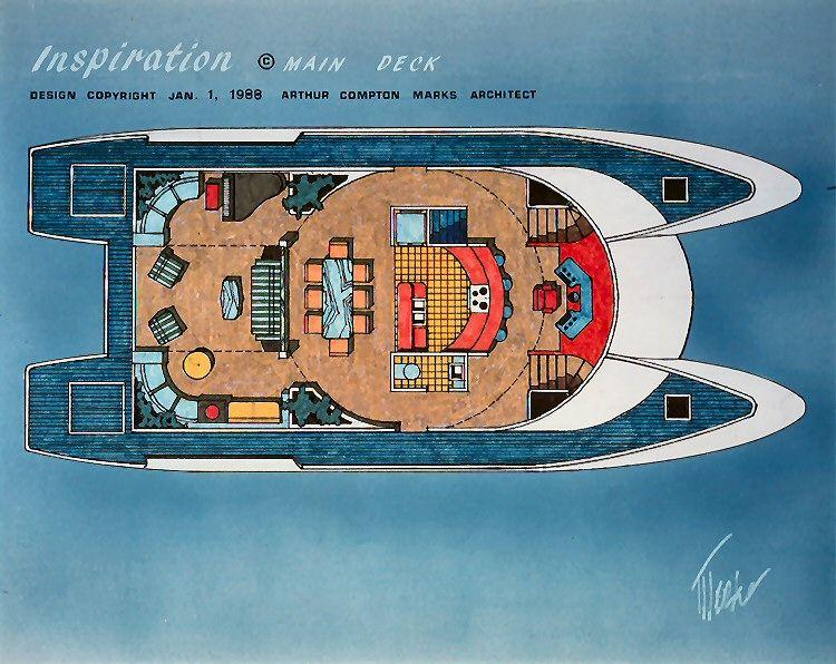 Catamaran Designs Arthur C Marks Architect Catamaran Boat Projects Boat Design