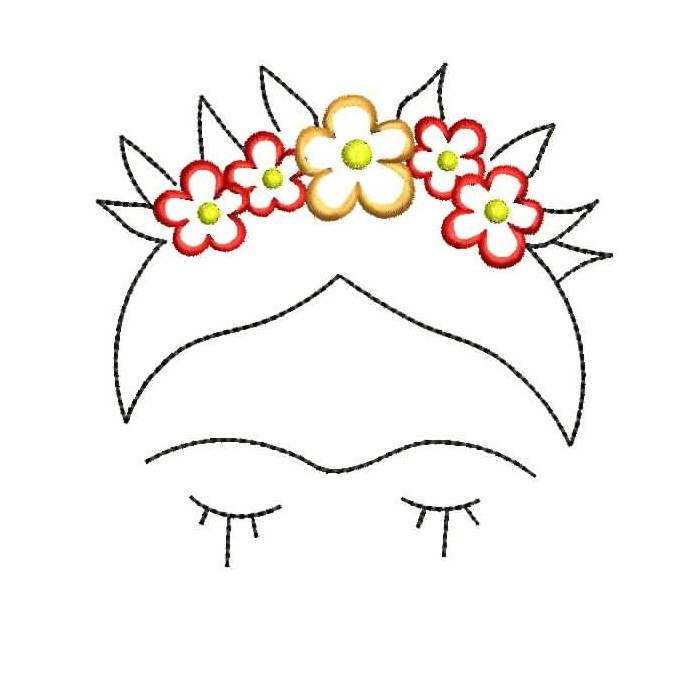 Frida Kahlo instantánea descargar diseños de bordados máquina | Arte